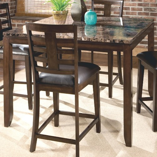 Standard Furniture Bella Counter Height Table with Faux Marble Top