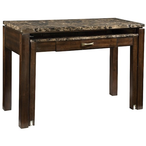 Standard Furniture Bella Desk & Entertainment Combination Piece with Power Plug & Faux Marble Top