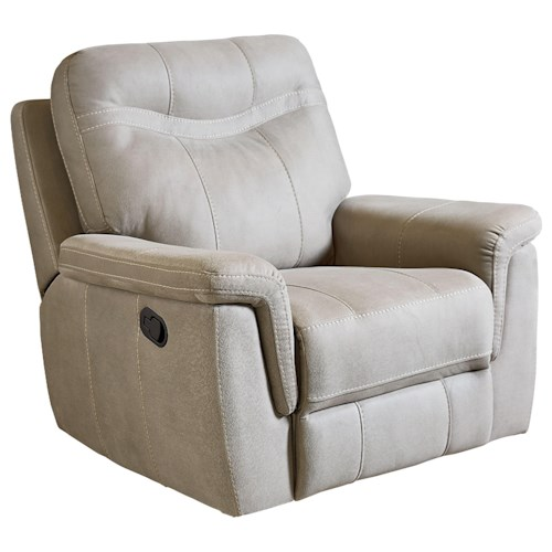 Standard Furniture Boardwalk Contemporary Stone Colored Rocker Recliner