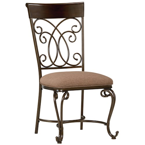 Standard Furniture Bombay Side Chair with Scoll Metal Detailing