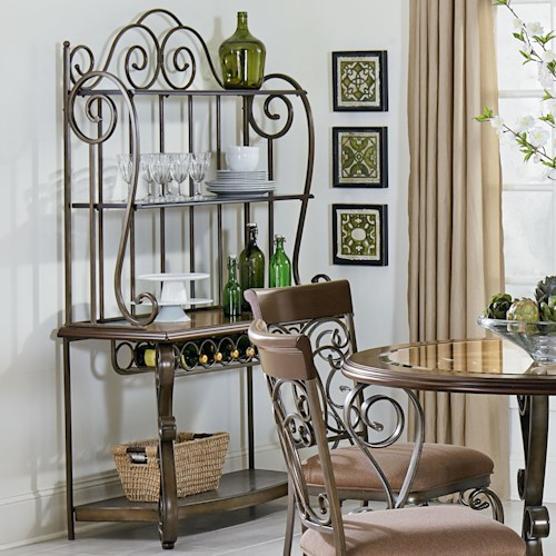 Standard Furniture Bombay Ornate Baker's Rack
