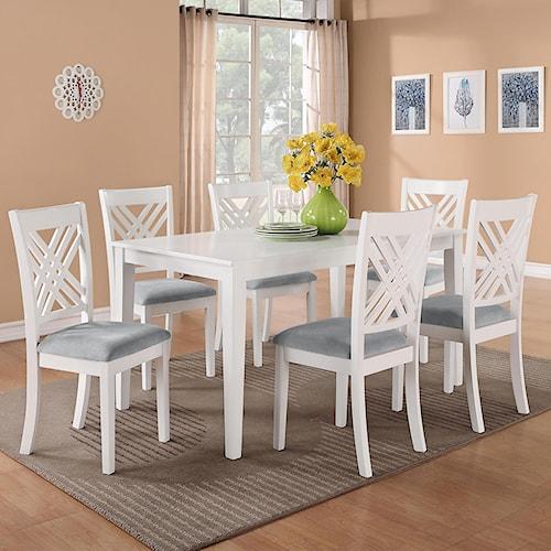 Standard Furniture Brooklyn 7 Piece Table & Triple