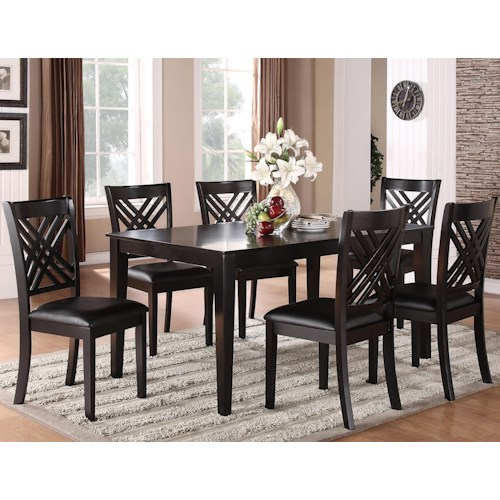 Standard Furniture Brooklyn 7 Piece Table & Triple