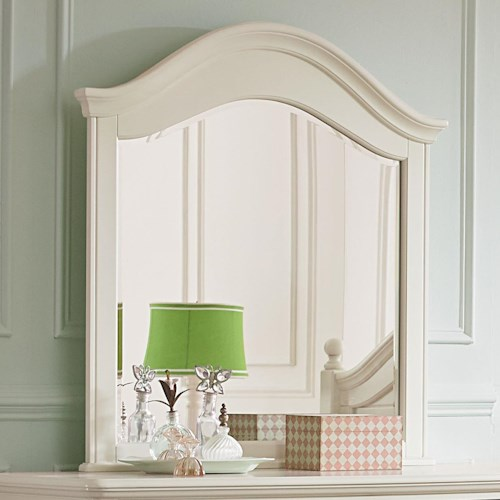 Standard Furniture Camellia Marshmallow Camelback Cottage Mirror
