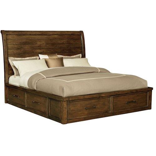 Standard Furniture Cameron Queen Sleigh Bed with Underbed Storage