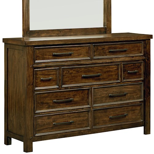 Standard Furniture Cameron Nine Drawer Rustic Dresser