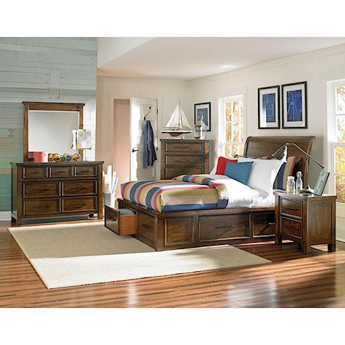 Standard Furniture Cameron King Storage Bed, Dresser, Mirror & Nightstand