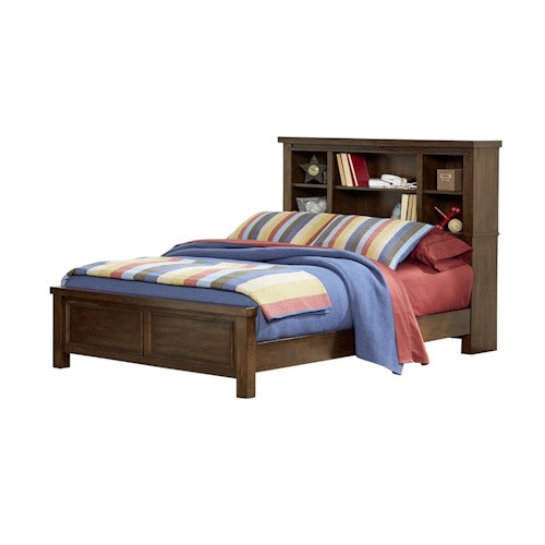 Vendor 855 Portland Youth Full Bed with Bookcase Headboard