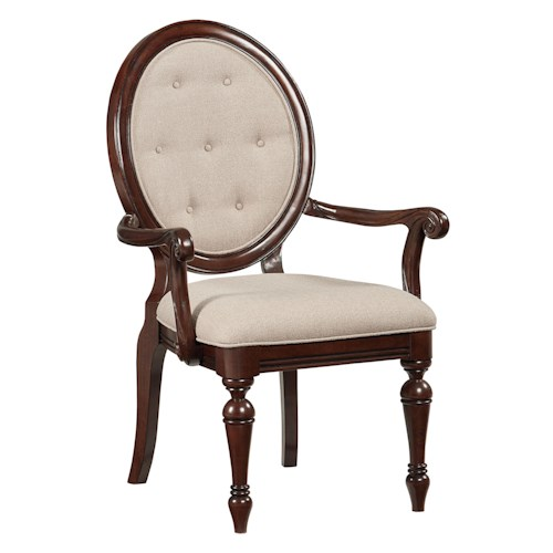 Standard Furniture Carrington Dining Upholstered Arm Chair
