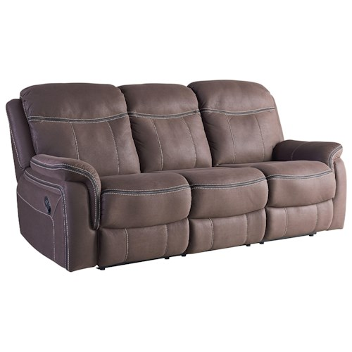 Standard Furniture Champion Taupe Faux Leather Reclining Sofa
