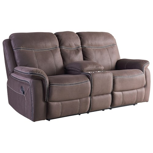 Standard Furniture Champion Reclining Console Loveseat