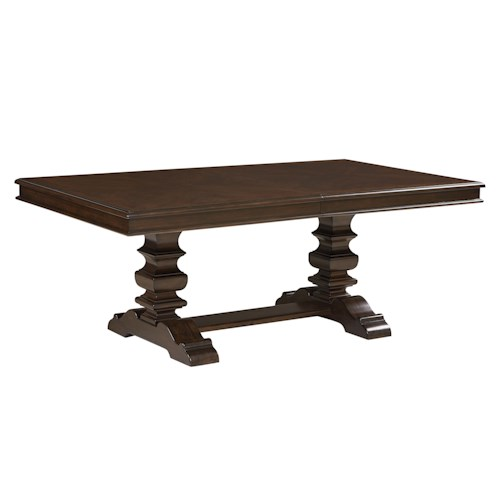 Standard Furniture Charleston Trestle Dining Table with 18