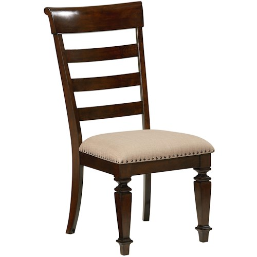 Standard Furniture Charleston Side Chair with Upholstered Seat