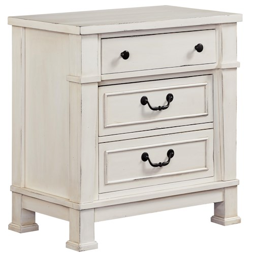 Standard Furniture Chesapeake Bay Vintage White Nightstand