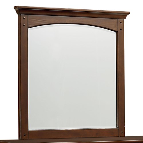 Standard Furniture Cooperstown Casual Vertical Youth Dresser Mirror