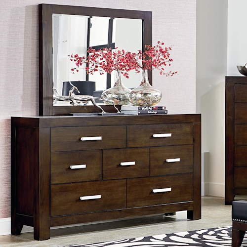 Standard Furniture Couture Contemporary Dresser and Mirror Set