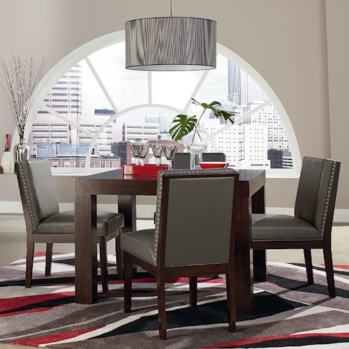 Standard Furniture Couture Elegance Square Table and Upholstered Chair Set