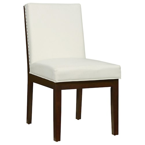 Standard Furniture Couture Elegance Upholstered Dining Side Chair with Nail Head Trim