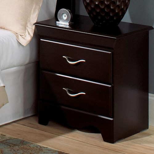 Standard Furniture Crossroads  Two Drawer Nightstand