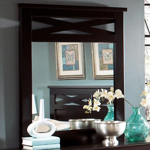 Standard Furniture Crossroads  Panel Mirror with Decorative Crossed Slats
