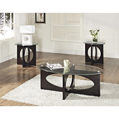 Standard Furniture Dania Occasional Table Set with Cocktail Table and Two End Tables