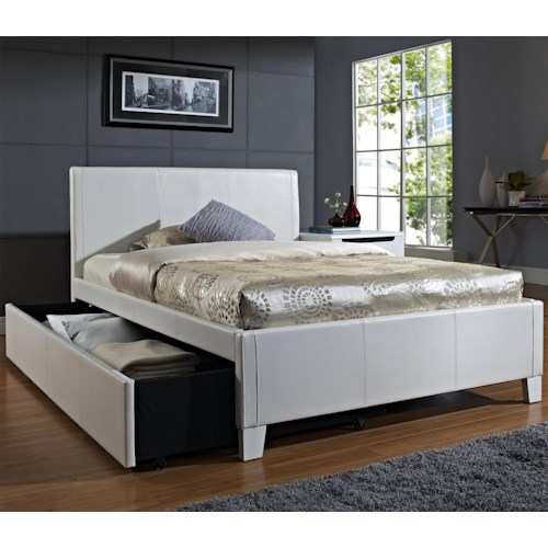 Standard Furniture Fantasia Full Upholstered Youth Trundle Bed