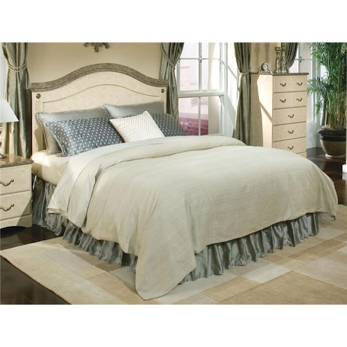 Standard Furniture Florence 5950 Queen Panel Headboard with Faux Stone Accent