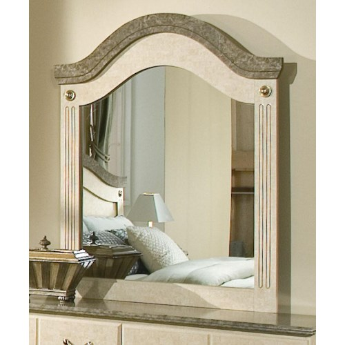 Standard Furniture Florence 5950 Dresser Mirror with Metal Accents