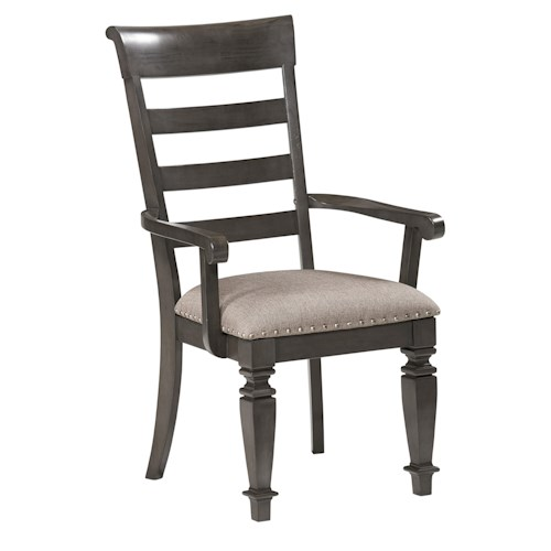 Standard Furniture Garrison Dining Room Traditional Upholstered Arm Chair