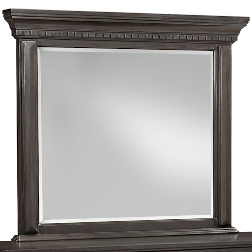 Standard Furniture Garrison Bedroom Traditional Mirror with Grey Finish