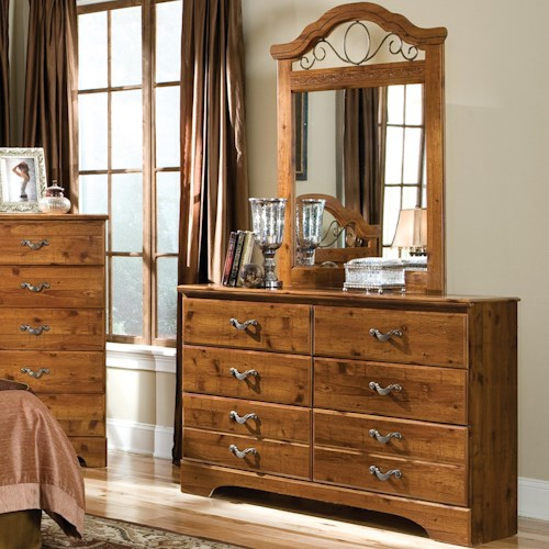 Standard Furniture Hester Heights Dresser and Mirror Combination