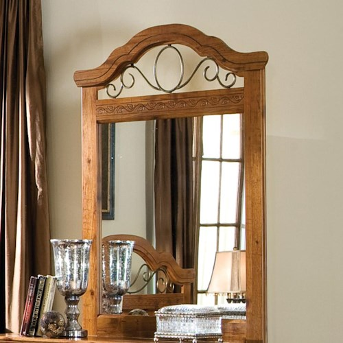 Standard Furniture Hester Heights Panel Mirror with Iron Accents