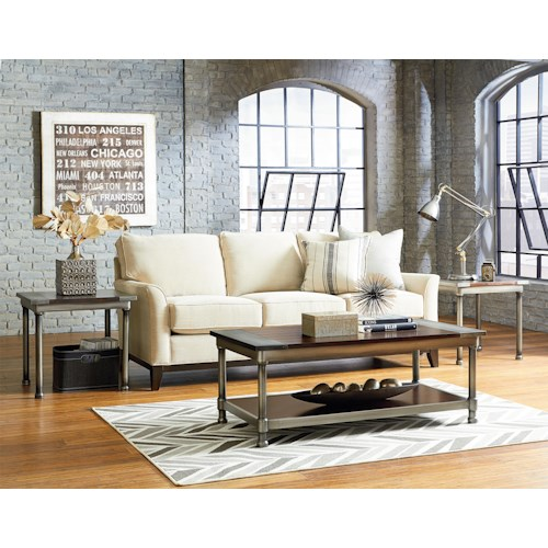 Standard Furniture Hudson Cocktail Table and 2 End Table Set