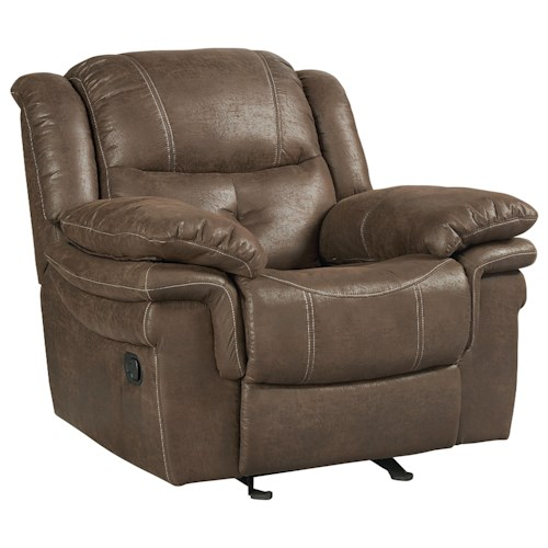 Standard Furniture Huxford Glider Recliner with Pillow Arms