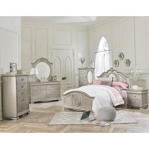 Standard Furniture Jessica Silver Twin Bedroom Group