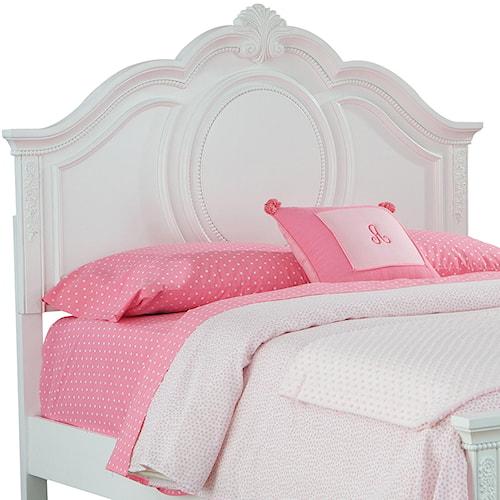 Standard Furniture Jessica Twin Curvaceous Headboard with Beaded Pearl Trim