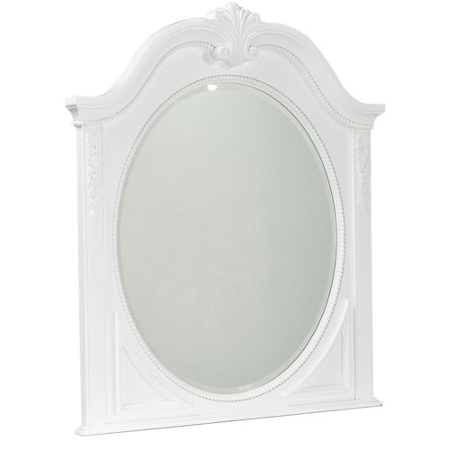 Standard Furniture Jessica Decorative Oval Shaped Mirror