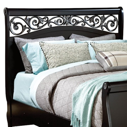 Standard Furniture Madera King Sleigh Headboard with Plastic Grille