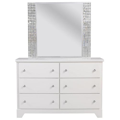 Standard Furniture Marilyn Youth Dresser & Mirror