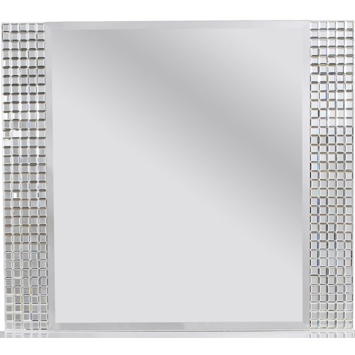 Standard Furniture Marilyn Youth Landscape Mirror with Square Beveled Tiles