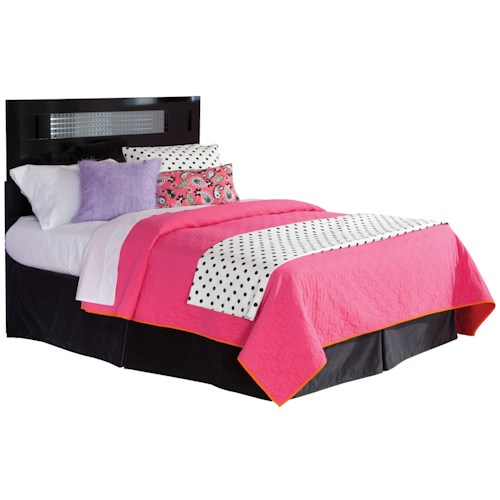 Standard Furniture Marilyn Youth Full Headboard with Square Mirror Inserts