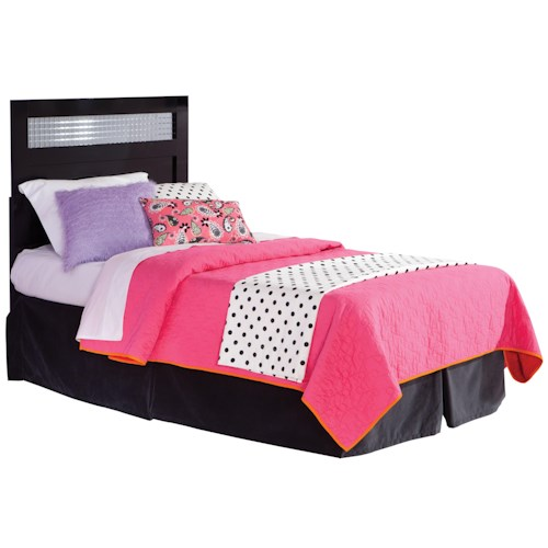 Standard Furniture Marilyn Youth Twin Headboard with Square Mirror Inserts
