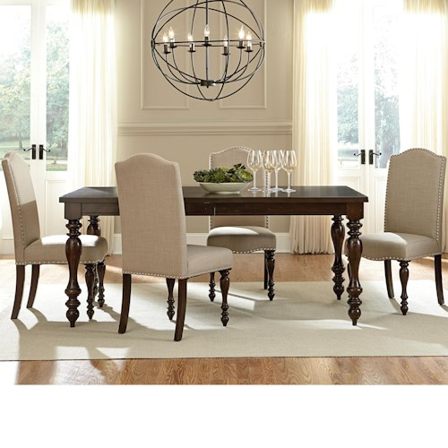 Standard Furniture McGregor Dining Table and 4 Side Chair Set