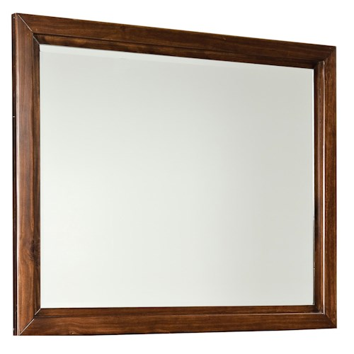 Standard Furniture Metro Landscape Beveled Dresser Mirror