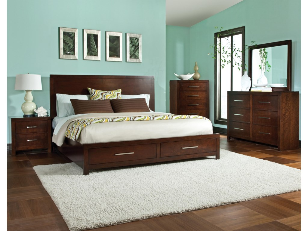 Shown with Nightstand, Storage Bed, Chest & Mirror