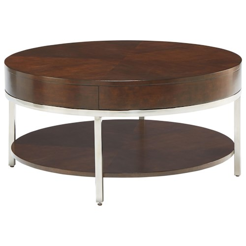 Standard Furniture Mira Contemporary Round Cocktail Table