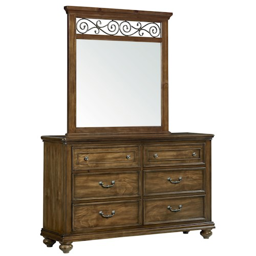 Standard Furniture Monterey Traditional Dresser and Mirror Set