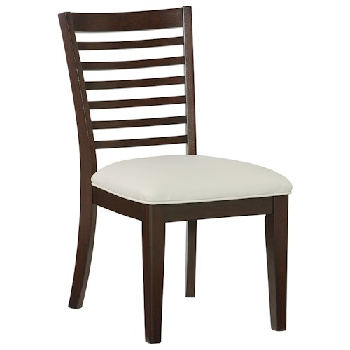 Standard Furniture Noveau Ladderback Side Chair with Upholstered Seat