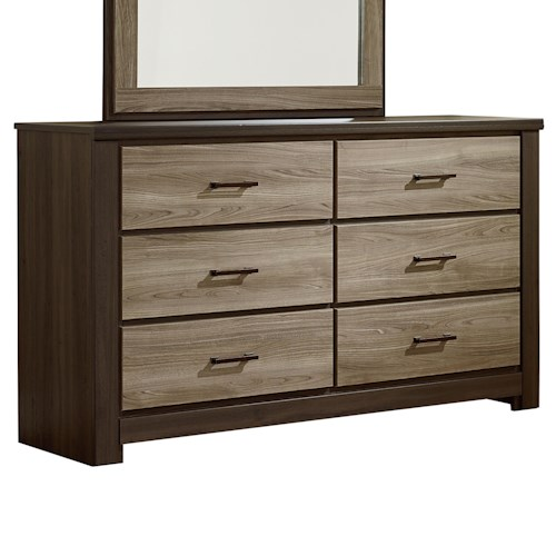 Standard Furniture Oakland Casual Contemporary Six Drawer Dresser