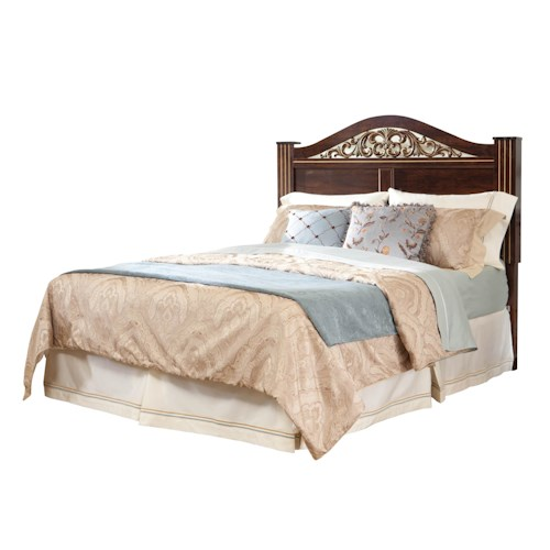 Standard Furniture Odessa Full/Queen Headboard with Oxbowed Crown